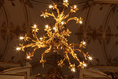 Chandelier of main Staircase of the Winter Palace Royalty Free Stock Photos