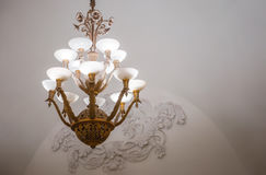 Chandelier in Moscow metro Stock Images