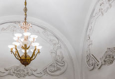 Chandelier in Moscow metro Stock Photos