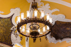 Chandelier in Moscow metro Stock Image