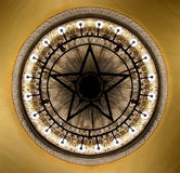 Chandelier in the Moscow theater. Ornate chandelier in the Moscow theater stock image