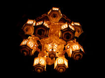 Chandelier. A Chandelier with multiple lanterns Royalty Free Stock Image