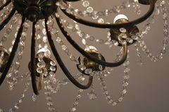 Chandelier in the museum. A beautiful chandelier in the Clocks museum in Lithuania Stock Images