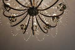Chandelier in the museum. A beautiful chandelier in the Clocks museum in Lithuania Royalty Free Stock Photography