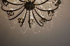 Chandelier in the museum. A beautiful chandelier in the Clocks museum in Lithuania Royalty Free Stock Photos