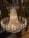 Chandelier in opulent hotel  in Louisville Kentucky USA. One of the Magnificent waterfront hotels in Louisville Kentucky USA Stock Photography