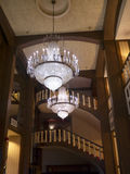 Chandelier in opulent hotel  in Louisville Kentucky USA. One of the Magnificent waterfront hotels in Louisville Kentucky USA Stock Images