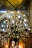 Chandelier in Orthodox Church Stock Photo