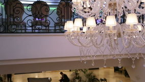 Chandelier over tree stock footage