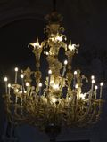Chandelier palace Stock Images