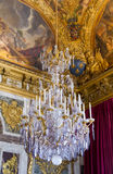 Chandelier at Palace of Versailles stock photography