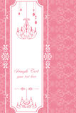Chandelier pink frame. Illustration Royalty Free Stock Photos