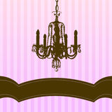 Chandelier on pink striped background Royalty Free Stock Photos