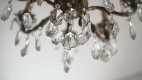 Chandelier in the restaurant on a holiday wedding stock video footage