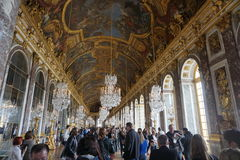 The chandelier room in Versailles Chateu. Paris, France Stock Photo