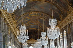 The chandelier room in Versailles Chateu. Paris, France Royalty Free Stock Photography