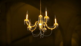 Chandelier Rotating (3D Animation) stock video