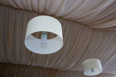 Chandelier round and suspended ceiling Royalty Free Stock Photo