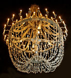 Chandelier in the salt cave. Royalty Free Stock Image