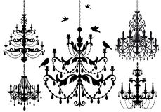 Chandelier set, vector Stock Photography