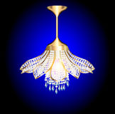 Chandelier in the shape of a flower Stock Images