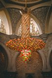Chandelier at sheik zayed mosque royalty free stock images