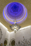 Chandelier Sheikh Zayed Grand Mosque Stock Image