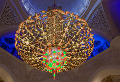 Chandelier in the Sheikh Zayed mosque in Abu Dhabi, United Arab Stock Images
