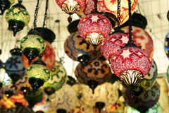 Chandelier shop. At grand bazaar in istanbul Stock Photography