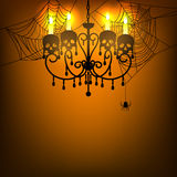 Chandelier and spiderweb Royalty Free Stock Images