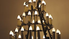 Chandelier stand stock footage