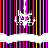 Chandelier with striped background Royalty Free Stock Photos