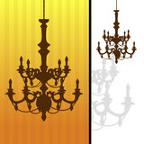 Chandelier on striped background. Stock Photography