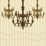 Chandelier striped background. Royalty Free Stock Images