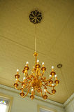 Chandelier of Sultan Abu Bakar State Mosque in Johor Bharu, Malaysia Royalty Free Stock Image