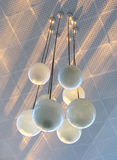 Chandelier and sunset-rays Royalty Free Stock Images
