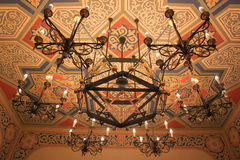 Chandelier in the synagogue Stock Photography