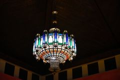 Chandelier. And this chandelier is a traditional Moroccan architecture are enough strikes to the Orient royalty free stock image