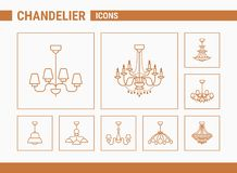 Chandelier Vector Icons 01 vector illustration