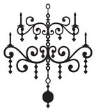 Chandelier vector image black and white Stock Photo
