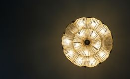 Chandelier the view from the bottom royalty free stock photos