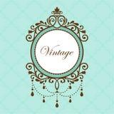 Chandelier vintage frame Royalty Free Stock Image