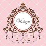 Chandelier vintage frame Stock Images