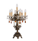 Chandelier in vintage style isolated on white - cl Stock Photos
