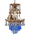 Chandelier in vintage style isolated on white - cl Royalty Free Stock Image