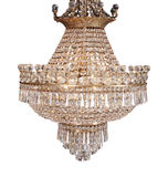 Chandelier in vintage style isolated on white - cl Stock Photo