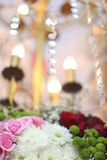Chandelier wedding. Candle lamp in a wedding party Chandelier wedding decor, lamp, candelabra Royalty Free Stock Images