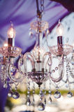 Chandelier wedding Stock Photos