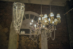 Chandeliers on the ceiling Royalty Free Stock Photos