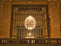 Chandeliers in Grand Central Station Manhattan New York City USA. Chandeliers in Grand Central Station in Manhattan New York City USA royalty free stock images